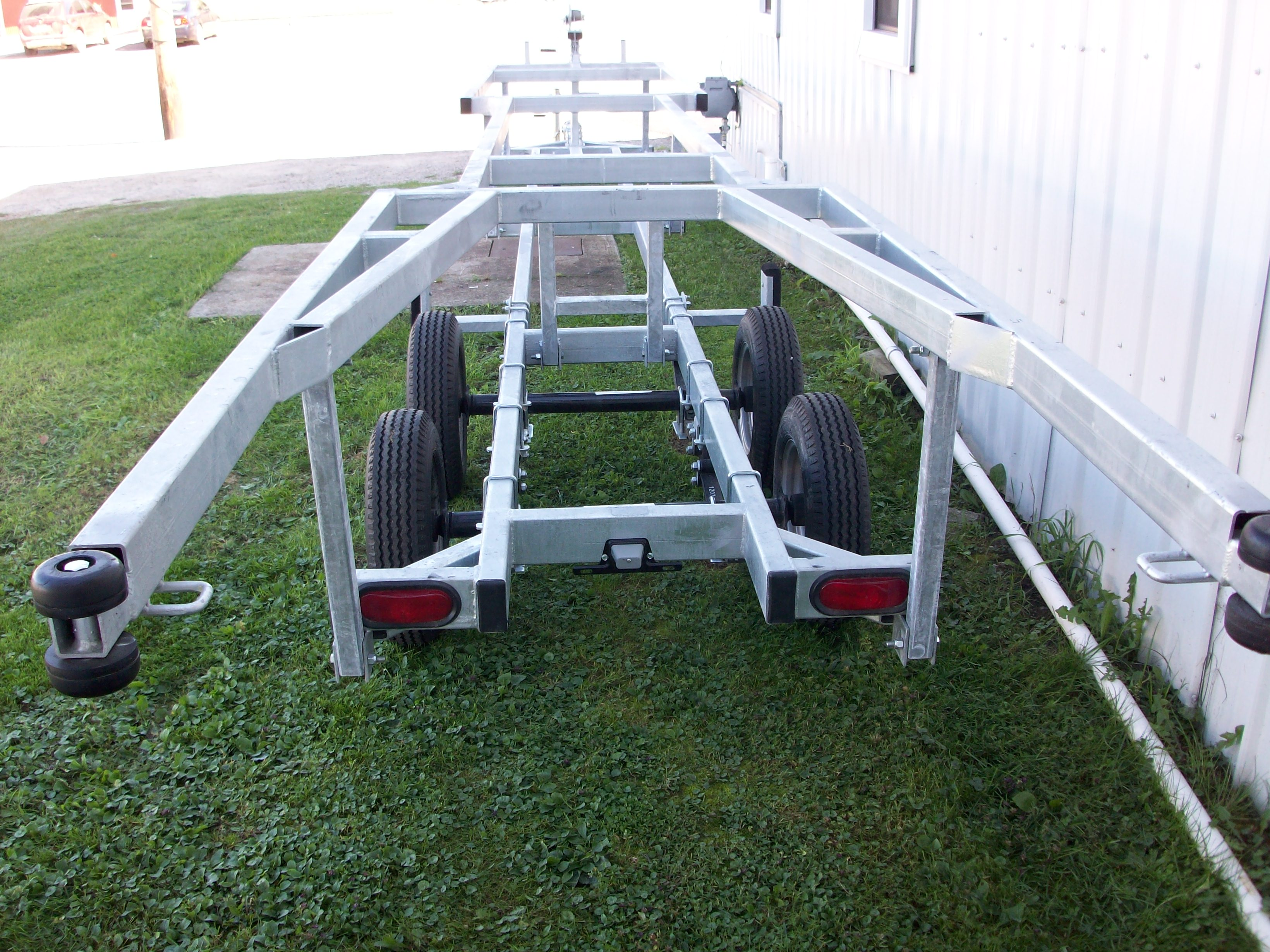 24' Genesis Galvanized Steel Crank Up Tandem Axle Pontoon Trailer
