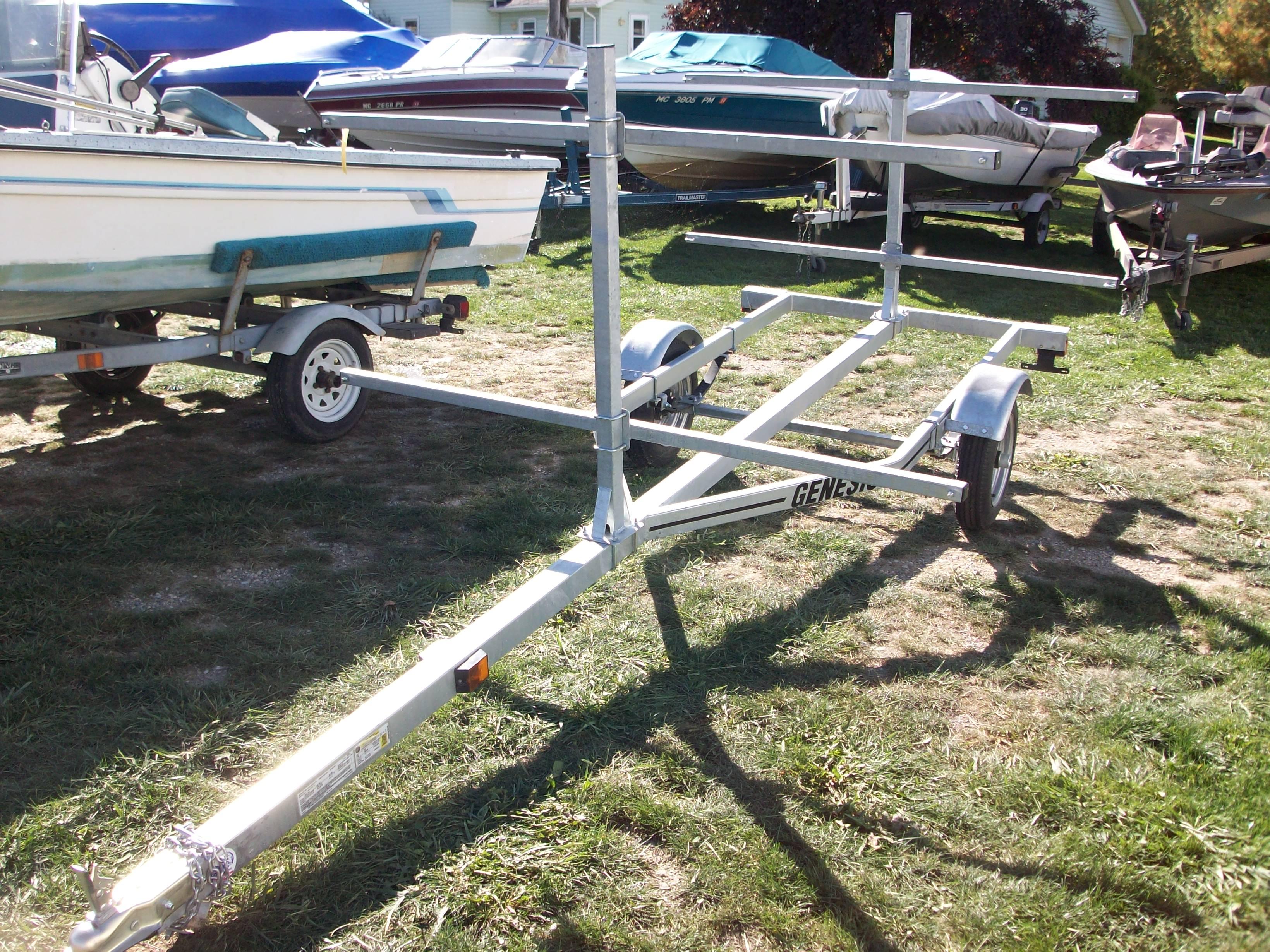 16' Galvanized Canoe/Kayak Trailer